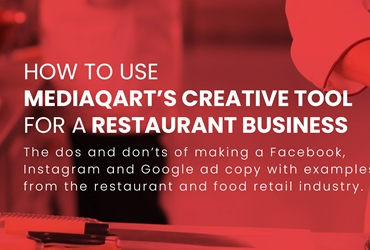 How to use Mediaqart creative tool for an ad for restaurants