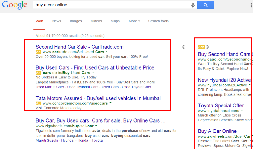 Examples of high performing Google and Facebook ads
